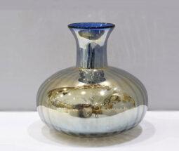 گلدان رومیزی مدل خمره ای آینه ای