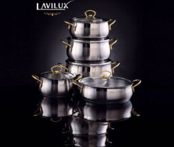 سرویس قابلمه استیل ۱۰ پارچه LAVILUX