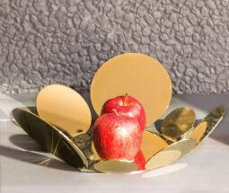 ظرف میوه خوری استیل گرد مدل سکه ای