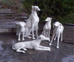 مجسمه سگ پلی استری خام طرح تازی