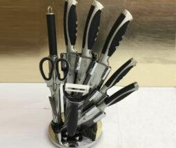 سرویس چاقو آشپزخانه ۹ پارچه استیل