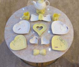سرویس ۱۶ پارچه صبحانه خوری طرح قلبی