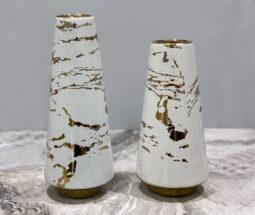 گلدان سرامیکی ژورنالی ماربل رومیزی
