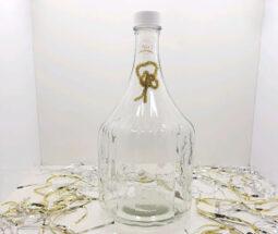 بطری آبغوره شیشه ای مدل نیزه ای طرح دار