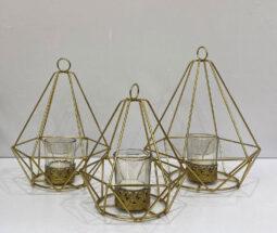 جاشمعی رومیزی سه تایی هرمی