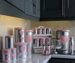 سرویس ۲۴ پارچه آشپزخانه طرح قلبی