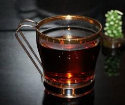 فنجان شیشه ای لب طلایی پاشاباغچه