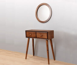 ست آینه و کنسول دو کشو چوبی مدرن
