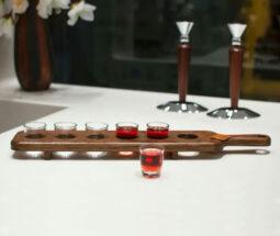 تخته سرو نوشیدنی چوبی مدل تک ردیف