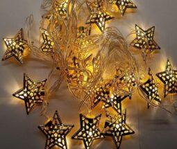 ریسه ال ای دی تزئینی طرح ستاره فلزی