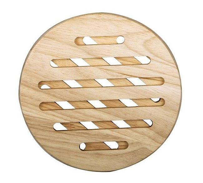 زیر قابلمه ای گرد چوبی مدرن