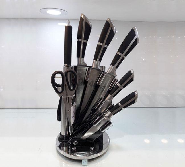 سرویس چاقو آشپزخانه استیل ۹ پارچه
