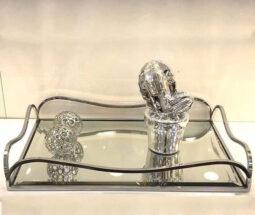 سینی کف آینه ای مستطیل کلاسیک