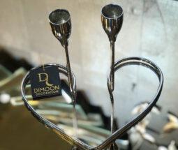 جاشمعی رومیزی ۲ شعله طرح قلب