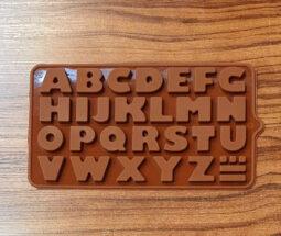 قالب سیلیکونی شکلات حروف انگلیسی