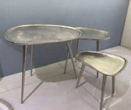 میز جلو مبلی سه تایی آلومینیومی مدرن