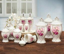 سرویس پاسماوری سرامیکی ۱۹ پارچه گلدار