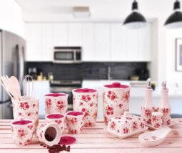 سرویس پاسماوری سرامیکی ۲۲ پارچه گلدار