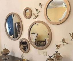 آینه دکوراتیو گرد ۵ سایزی شیک