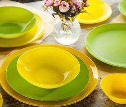 سرویس غذاخوری اوپال رنگی ساده