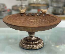 میوه خوری چوبی با پایه فلزی طرح پرنده
