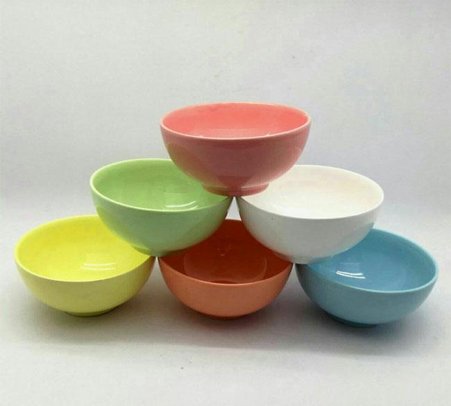 کاسه آبگوشت خوری ۶ تایی رنگی