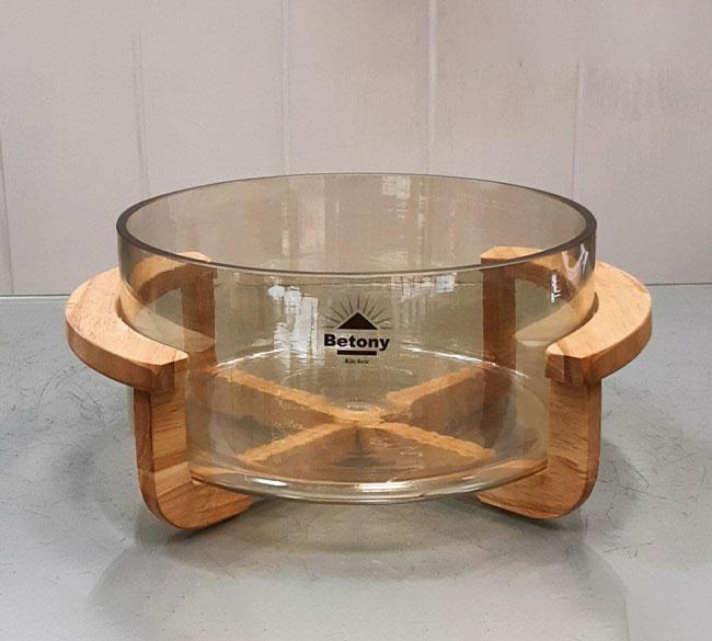 کاسه سالاد شامپاینی پایه چوبی BETONY