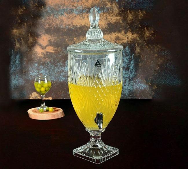 کلمن پنج لیتری شیشه ای ARCO طرح دیاموند
