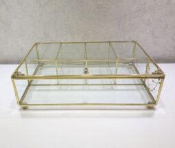 جعبه تی بگ ۵ خانه شیشهای