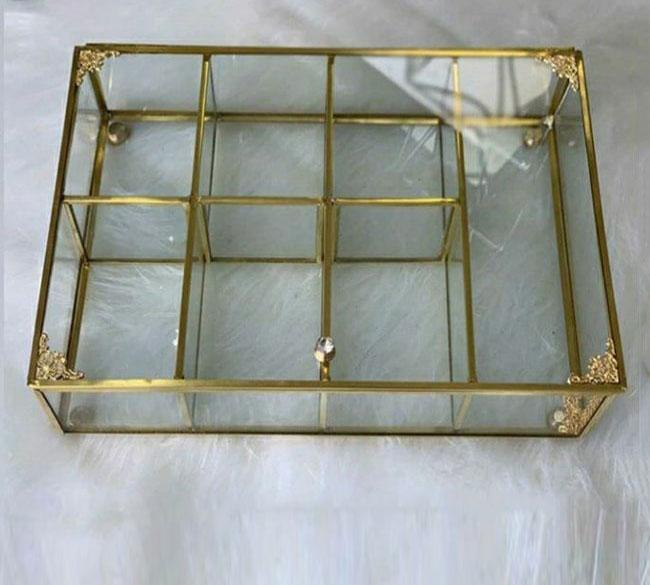 جعبه تی بگ ۷ خانه شیشه ای رومیزی