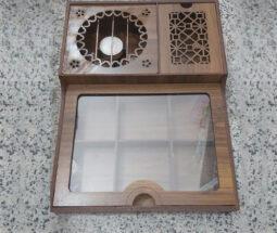 جعبه پذیرایی و تی بگ چوبی وارمردار