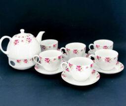 سرویس چای خوری ۱۴ پارچه گلدار
