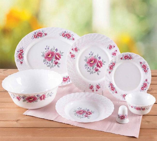 سرویس غذاخوری ۲۸ پارچه اوپال گلدار