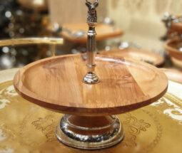 شیرینی خوری چوبی با دسته طرح گوزن