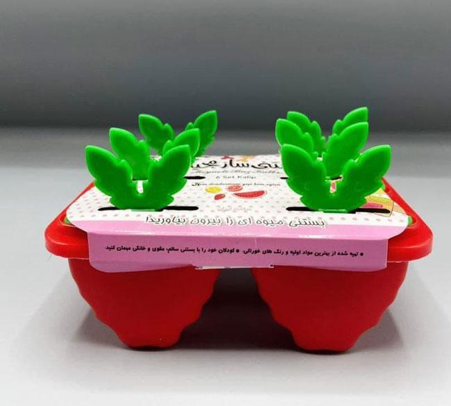 قالب بستنی ساز ۶ تایی طرح توت فرنگی