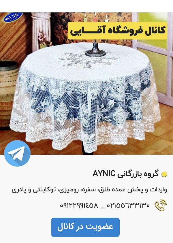 کانال تلگرام فروشگاه آقایی AYNIC