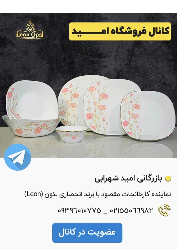 کانال تلگرام فروشگاه چینی امید Leon opal