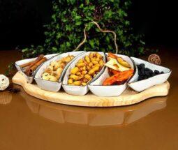 اردو خوری چینی لمون زیر چوبی طرح ماهی