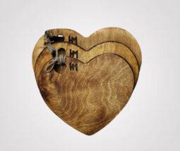 تخته سرو چوبی طرح قلب