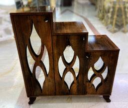 جاکفشی چوبی سه درب مدل پلکانی