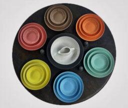 سرویس غذاخوری ۳۰ پارچه رنگی طرح ساده