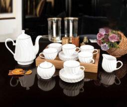 سرویس چای خوری ۱۷ پارچه لیمون مدل کارمن