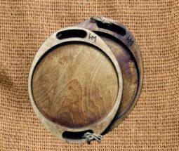 سینی پذیرایی چوبی گرد دسته دار