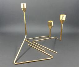 جاشمعی سه تایی پایه مثلثی فلزی