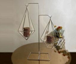 جاشمعی فلزی مدل ترازو الماسی