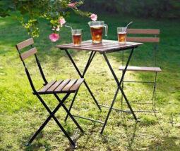 ست میز و صندلی چوبی دو نفره تارنو