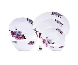 سرویس غذاخوری ۲۸ پارچه پارس اوپال مدل Lavender