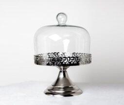 کاپ کیک خوری پایه دار درب شیشه ای
