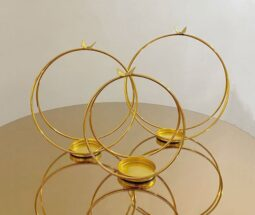 جاشمعی فلزی حلقه ای طرح پروانه