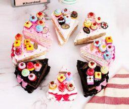 ست چنگال زیتون خوری ۵ تایی طرح کیک